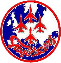 Skyblazers F-100C Super Sabre logo