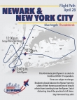 Newark and New York flyover route
