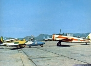Esquadrilha da Fumaca Fouga Magister and T-6 Texan