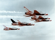 Thunderbirds F-100D Super Sabre. Photo Bob Lawson