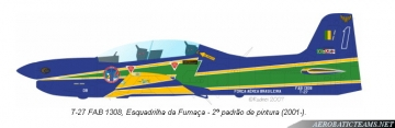 Esquadrliha da Fumaca T-27 Tucano, second paint scheme from 2002 to 2012