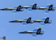 Blue Angels during America Strong flyovers. Chicago May 12. Photo by Ivan Voukadinov