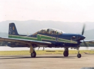 Esquadrilha da Fumaca T-27 Tucano in second paint scheme from 2002 to 2012