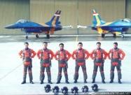 Elang Biru pilots
