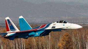 Russian Knights Su-35S. Photo team's facebook page