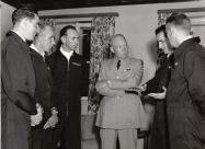 Skyblazers Pilots with Dwight Eisenhower. Photo via Kelly Evans