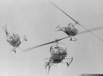 Blue Eagles Bell-47 Sioux