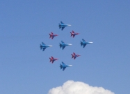 Swifts and Russian Knights in joint formation