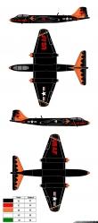 Black Knights B-57 Canberra paint scheme