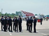 Thunderbirds pilots after flight