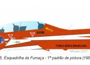 Esquadrliha da Fumaca T-27 Tucano, red-white paint scheme from 1982 to 2002