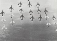 Black Arrows Hawker Hunter F6. The world record formation.