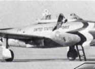 Thunderbirds F-84G Thunderjet. Photo by David W Menard, DWM at O'Hare Field in October 1953