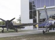 Blue Angels F6F Hellcat and F/A-18
