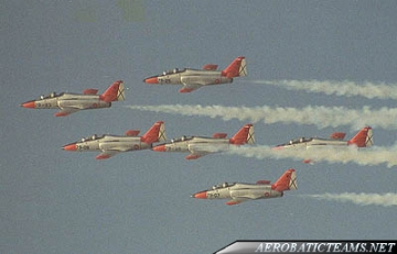 Patrulla Aguila Aviojet first paint scheme from 1985 to 1991