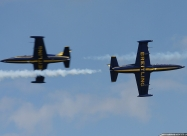 Breitling Jet Team L-39C Albatross. Third paint scheme with yellow stabilizer.