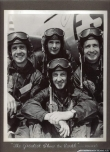 First Skyblazers pilots: In front Maj. Harry K. Evans, in the middle Pattillo brothers and Lt. Lawerence D. Damewood.