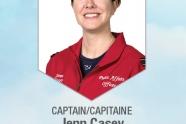 Captain Jenn Casey died on yesterday's Snowbirds crash