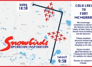 Cold Lake to Fort McMurray flypast map and times - May 15
