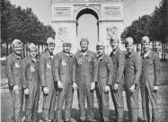 Blue Angels F11F Tiger pilots, Paris 1965