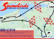 May 3, Snowbirds Nova Scotia flyover map 2