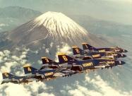 Blue Angels F-4J Phantom over Mount Fuji, Japan