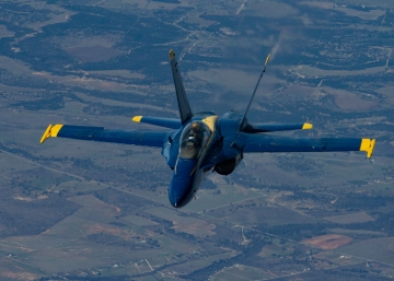 Blue Angels Legacy Hornet. Photo by 151st Air Refueling Wing