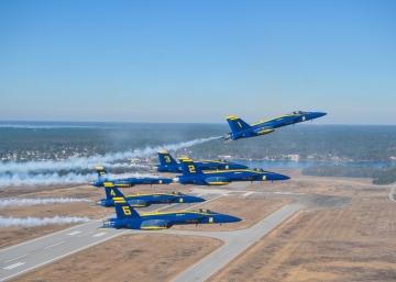 Blue Angels first Super Hornet Delta photos. Source US NAVY