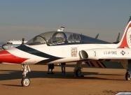 Thunderbirds T-38 Talon at museum. 200th years logo paint scheme