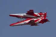 Two Surya Kiran aircraft collided in mid-air, one pilot dead