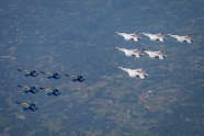 No additional Thunderbirds and Blue Angels joint flyovers planned