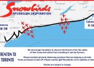 May 9 flypast Trenton to Toronto map
