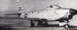 Sabre Knights F-86D Sabre. Photo by DWM at Detroit  4 July 1955