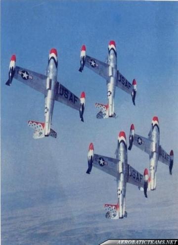 Thunderbirds F-84G Thunderjet, from 1953 to 1955