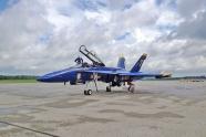 Blue Angels aircraft blows tire at Reno Airport
