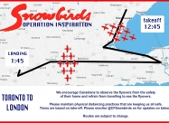 May 9 flypast Toronto to London map