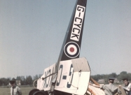 Golden Centennaires AVRO 504K July, 1967 incident. Photo by William Ewing