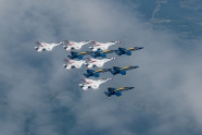 Blue Angels and Thunderbirds America Strong flyovers is now over