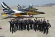 Black Eagles pilots and technicians