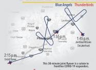 Trenton and Philadelphia flyover map April 28