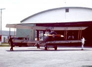 Golden Centennaires AVRO 504K in front its eventual home at Camp Borden, Ontario. Photo by William Ewing
