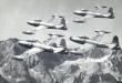 Skyblazers F-84E Thunderjet, from Sept 1950 to 1953