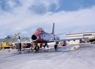 Minute Men F-86F-2 Sabre. Photo by Chuck Johnston Jr, summer of 1958, Buckley Air National Guard Base.