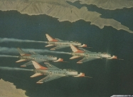 Thunderbirds F-100C Super Sabre, from 1956 to 1963