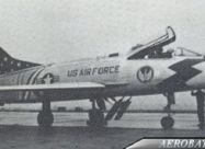 Skyblazers F-100C Super Sabre. by A/2c DWM at Toul AB France in the summer of 1959