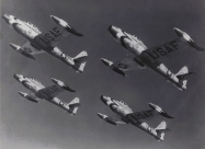 Thunderbirds F-84G Thunderjet. Photo via Kelly Evans