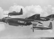 Blue Angels F-4J Phantom II and Fornoff display team F8F Bearcats - June 1970.