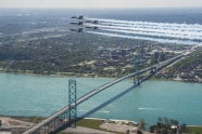 Drone flew dangerously close to Blue Angels at Detroit flyover