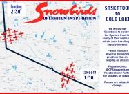 Saskatoon to Cold Lake flypast map