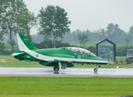 Saudi Hawks land in rain